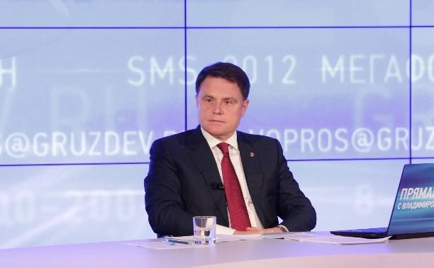 Владимир Груздев поздравил туляков с Днём строителя