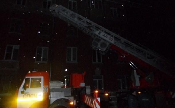 На ночном пожаре на ул. Марата огнеборцы спасли девять человек