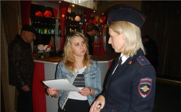 ГИБДД развесила листовки в тульских кафе и ресторанах