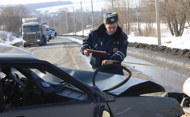 В Тульской области столкнулись два десятка авто