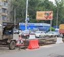 Ремонт трамвайного переезда на Советской/Оборонной практически завершен