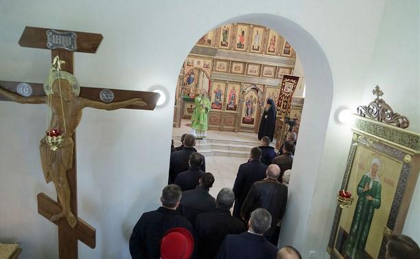 В Туле на территории 51-го гвардейского полка освятили храм в честь Дмитрия Донского