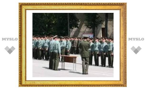 Тульских военных посвятили в офицеры