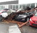 В Туле на Новомосковском шоссе ветром снесло крышу делового центра