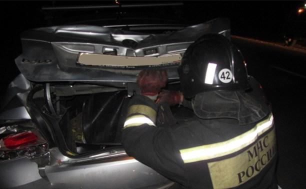 В Заокском районе столкнулись Scania и Volkswagen Polo