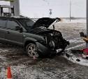 В Тульской области Hyundai протаранил колонку АЗС: пострадал ребенок