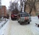На пожаре в Щёкино пострадал человек