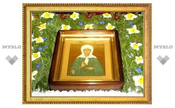 Туляки могут поклониться мощам Матроны Московской