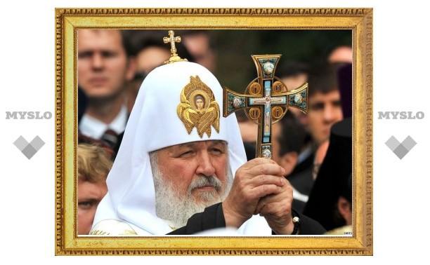 Патриарх Кирилл совершил литию на месте массовых расстрелов в урочище Сандармох в Карелии