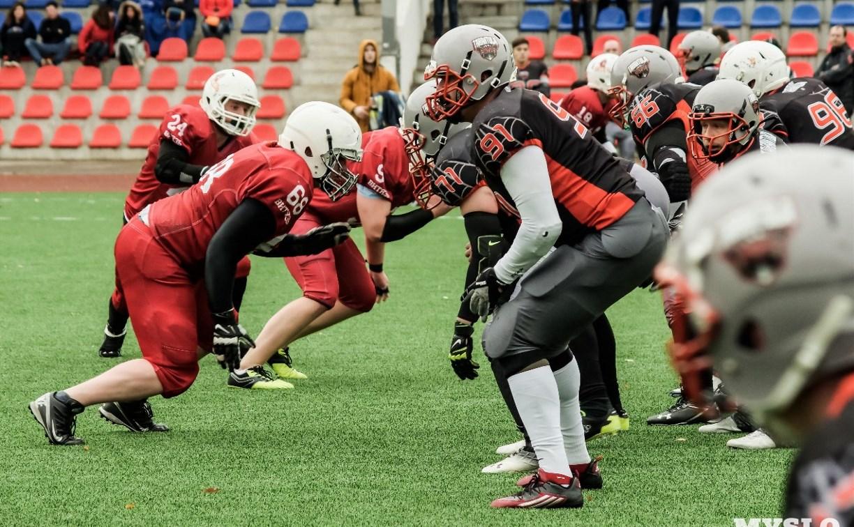 В Туле прошел матч по американскому футболу между «Тарантула» и «Витязь»