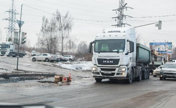 С 3 апреля большегрузам запретят въезд в Тулу