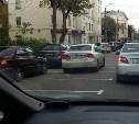 Проектировщик допустил ошибку при нанесении разметки для парковки на ул. Льва Толстого