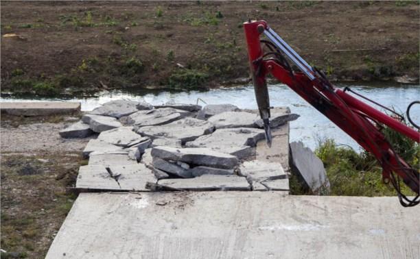 К 10 ноября на набережной Упы появится пешеходный мост