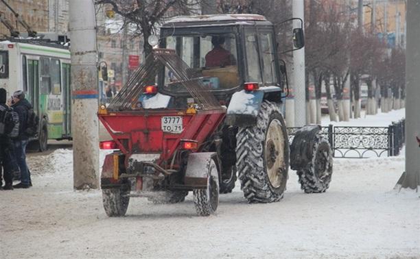 В Туле применяют новый реагент для обработки тротуаров