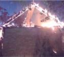 Ночью в Одоевском районе сгорела баня