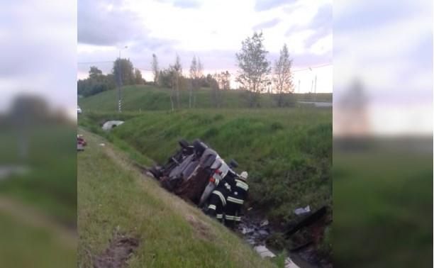 В столкновении автобуса и двух маршруток в Тульской области погибли 4 человека и 5 пострадали