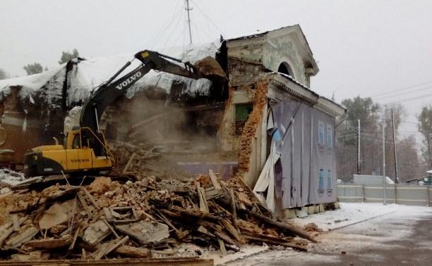 В Туле снесли бывший кинотеатр «Комсомольский»