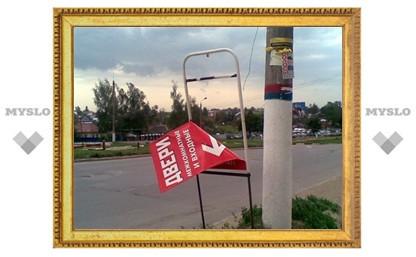 В Туле ветер валил деревья и срывал рекламные щиты