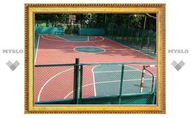 В Тульской области начали строительство спортплощадок