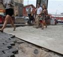 На тульских тротуарах уложено уже более 26 тысяч квадратных метров плитки