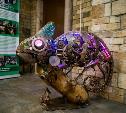 Тульский умелец подарил экзотариуму железного хамелеона в стиле стим-панк