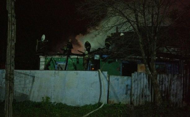 В Криволучье сгорел частный дом