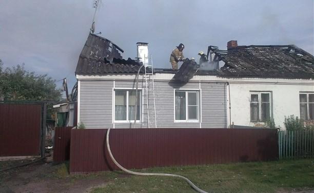 В Одоеве загорелся частный дом