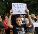 Более 150 туляков вышли на митинг в Рогожинском парке