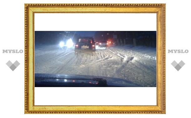 Для тульских дорожников снегопад стал неожиданностью