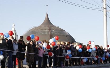 Эстафета олимпийского огня в Туле: Зареченский район