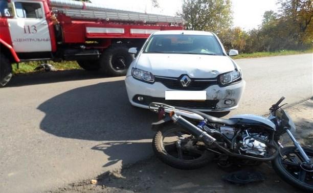 В Суворовском районе водитель «Рено Сандеро» сбил мотоциклиста