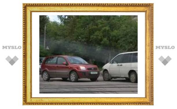 В Туле пробка из-за ДТП