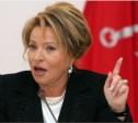 Матвиенко предложила ввести мораторий на повышение налогов для бизнесменов
