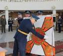 В музее оружия состоялась церемония крепления полотнища Боевого знамени к древку