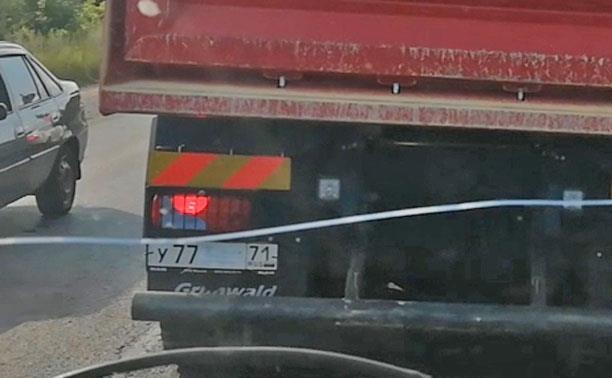 «Накажи автохама»: водитель самосвала подверг опасности проезжающих по Баташевскому мосту