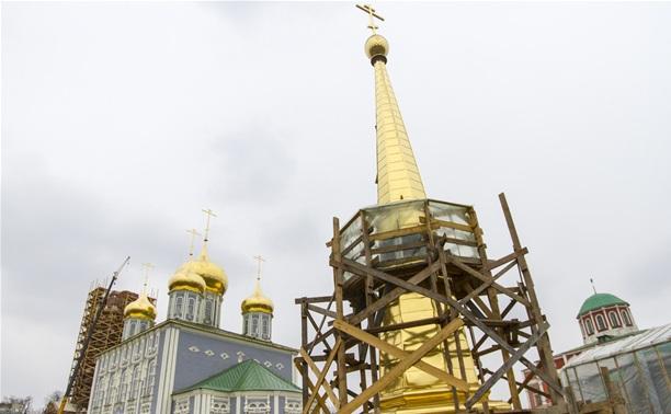 В апреле отрепетируют подъем шпиля на колокольню Тульского кремля