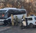 В ДТП с автобусом на Косой Горе пострадал мужчина