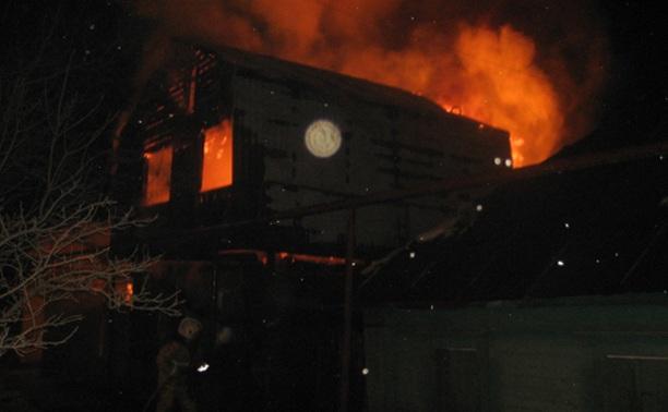 Рано утром в Заречье сгорел частный дом