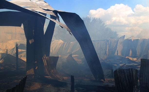 Площадь пожара в Плавске составила 100 квадратных метров