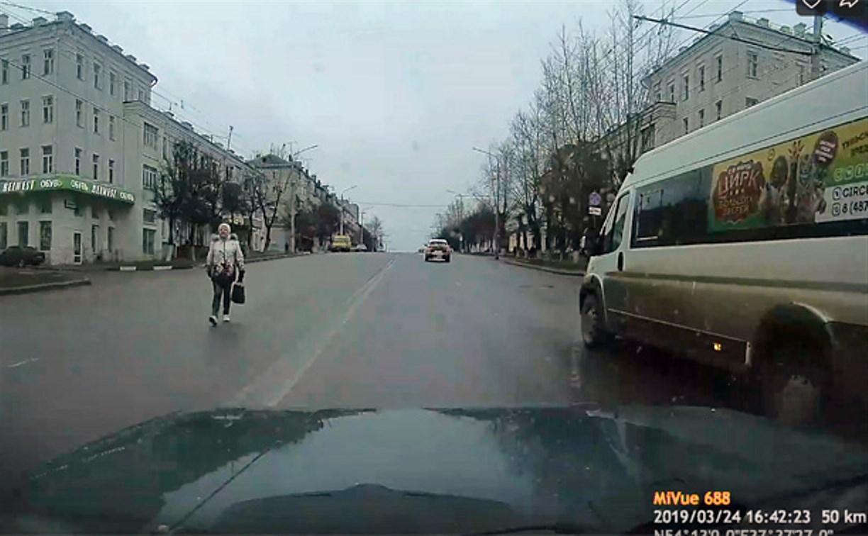 Отчаянная женщина: туляк выложил в сеть видео с пешеходом-нарушителем