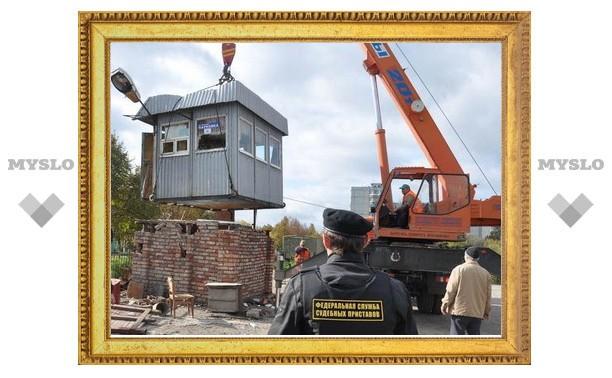 В Туле судебные приставы снесли стоянку