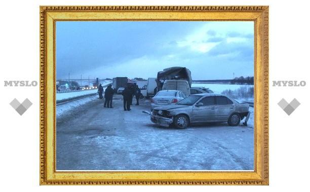 На злополучном участке трассы М2 «Крым» под Тулой у поворота на Ясногорск снова аварии!
