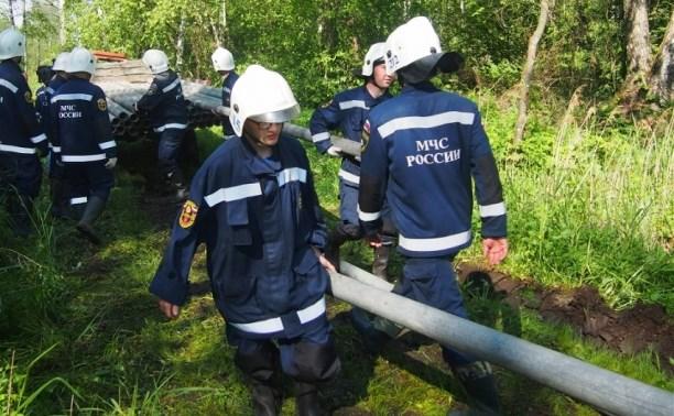 Тульские спасатели помогают тверским коллегам в предупреждении природных пожаров