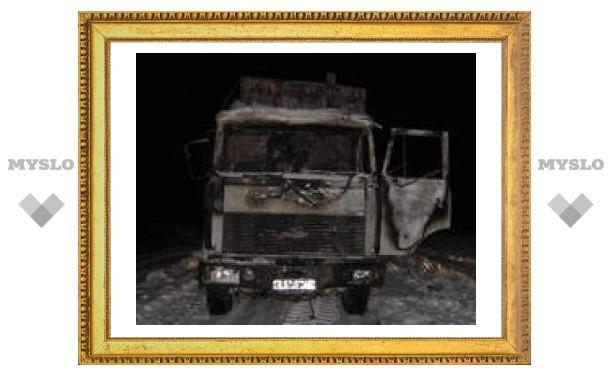 В Тульской области сгорел грузовик