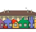 В Привокзальном районе фасады домов раскрасят в цвета радуги