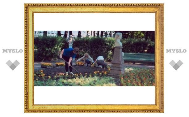 В центре Тулы высадили полмиллиона цветов