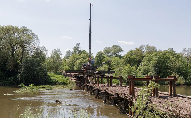 Военные строители закончат возведение мостов в Тульской области до 1 июля