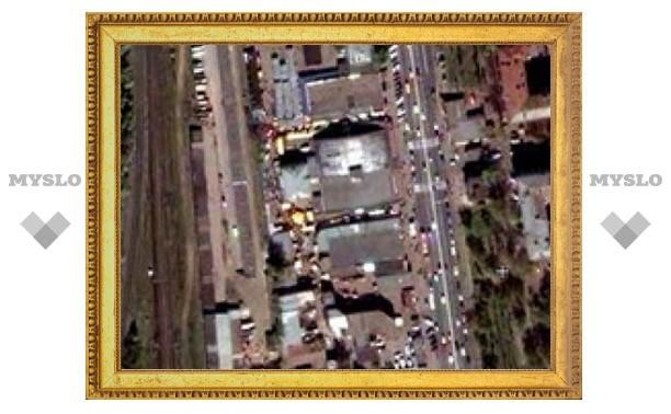 В Москве обрушилось здание рынка