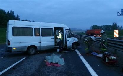 Под Тулой разбился микроавтобус