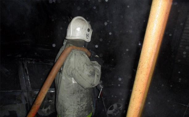 Ночью в Туле сгорела «Приора»